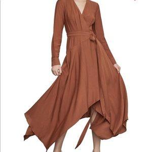 Bcbg Handkerchief Hem wrap dress